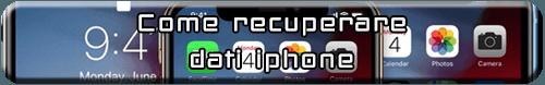 recuperare file iphone
