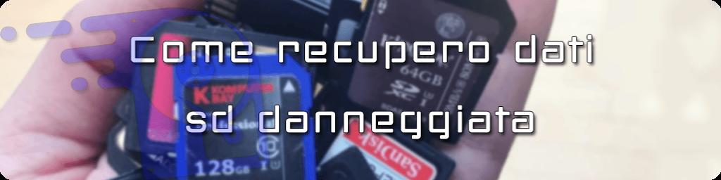 ripristino di scheda microSD