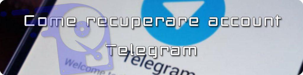 ripristinare account telegram