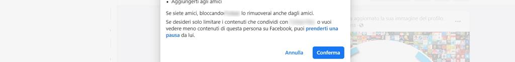 sbloccare persona facebook