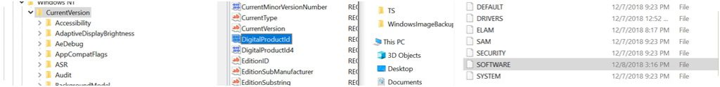 recuperare product key windows 10