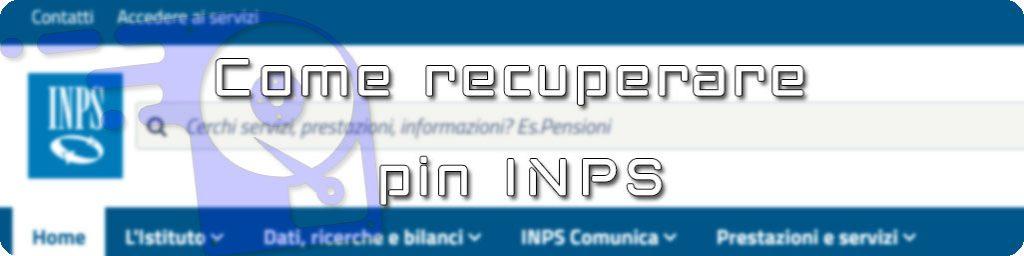 ripristino pin inps